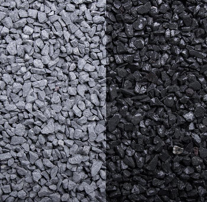 Basaltsplitt in der Körnung 2-5